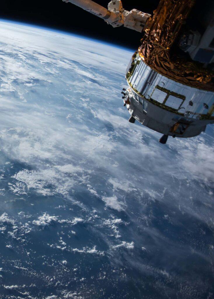 NASA spacecraft orbiting the earth